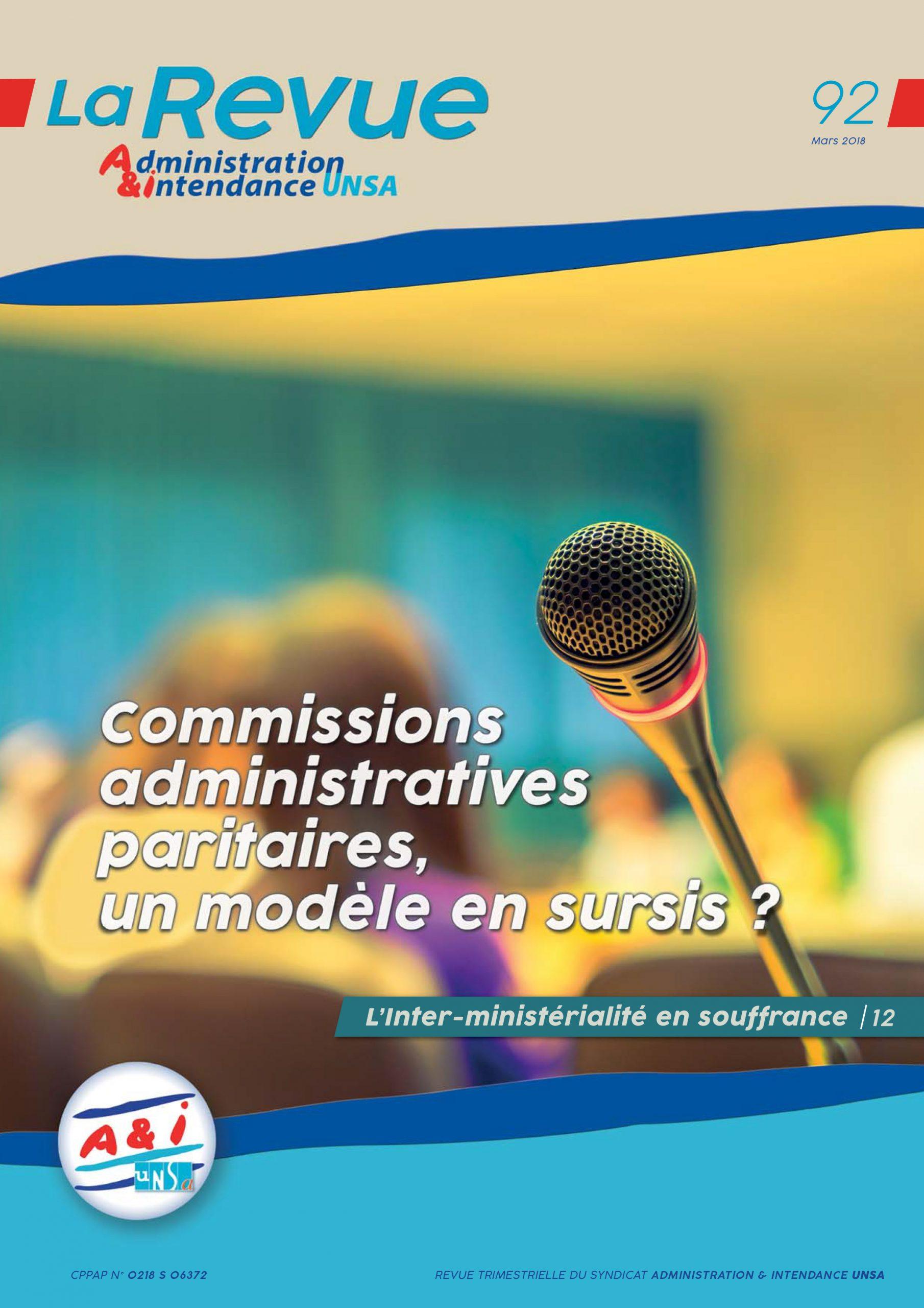 administration et intendance la revue